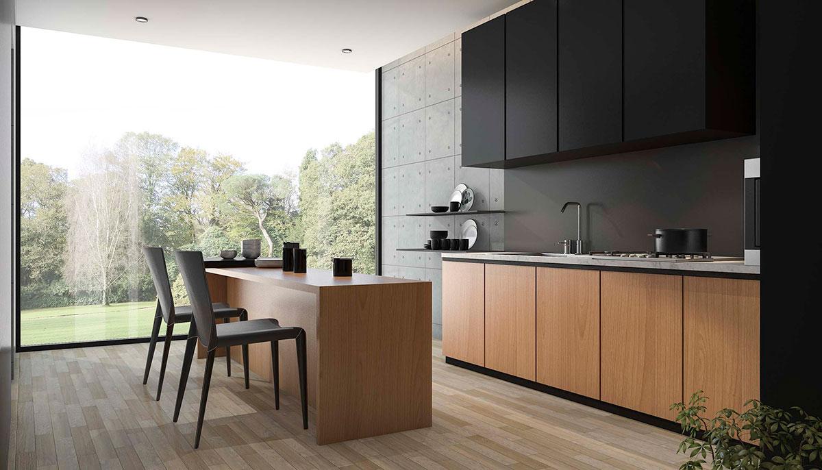 Click to enlarge image black kitchen photo jpg